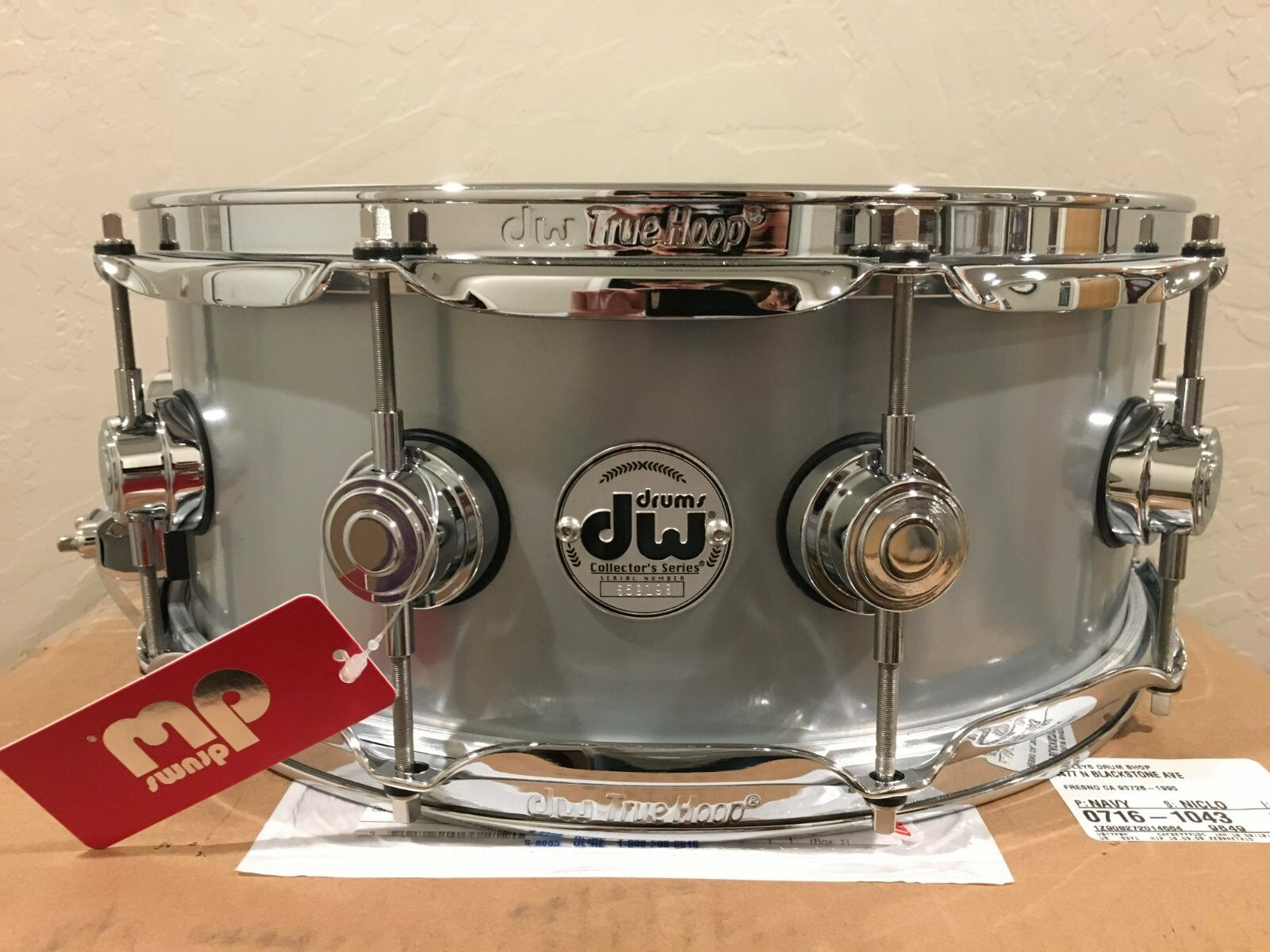 DW Collector's Series 5.5x14 Rolled Aluminum Snare Drum w/Ch