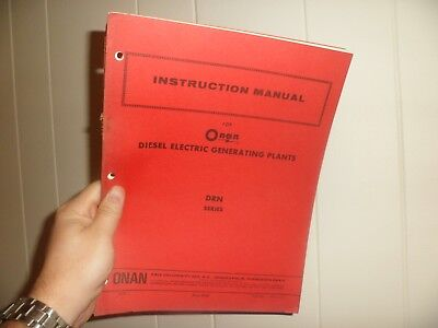 Drawer 32 Onan Drn Series Diesel Electric Generating Plants Instruction Manual