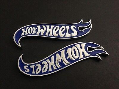 2x OEM Camaro Hot Wheels Edition Deck Lid Emblem Badge Genuine Blue
