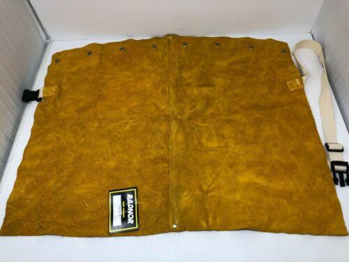"RADNOR 20"" Bourbon Brown Premium Side Split Cowhide Leather Bib Size: XXL"