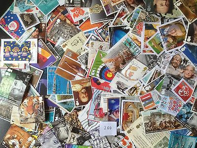 200 Different Great Britain Commemoratives 2010-2015 Stamp Collection