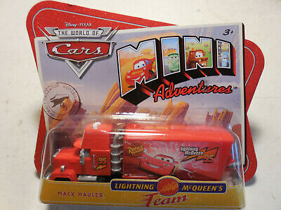 Mattel Disney Pixar World of Cars Mini Adventures MACK HAULER Sealed FREE SHIP