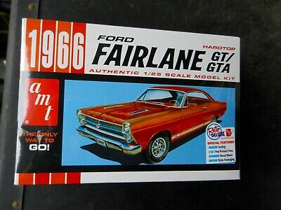 AMT 1966 FORD FAIRLANE GT / GTA HARDTOP 1:25TH SCALE PLASTIC MODEL SEALED KIT for sale  Shipping to Canada
