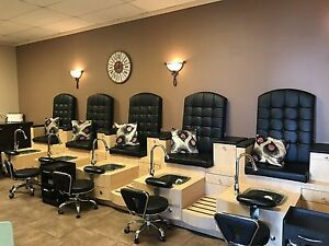 Pedicure Bench with 5 chairs