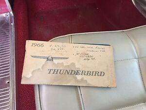 1966 Thunderbird two door hard top Ninderry Maroochydore Area Preview