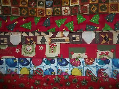 CHRISTMAS TREE ornament STAR angel BTY Cotton QUILT Fabric U-PICK READ for info - Fabric Quilt Star Ornament