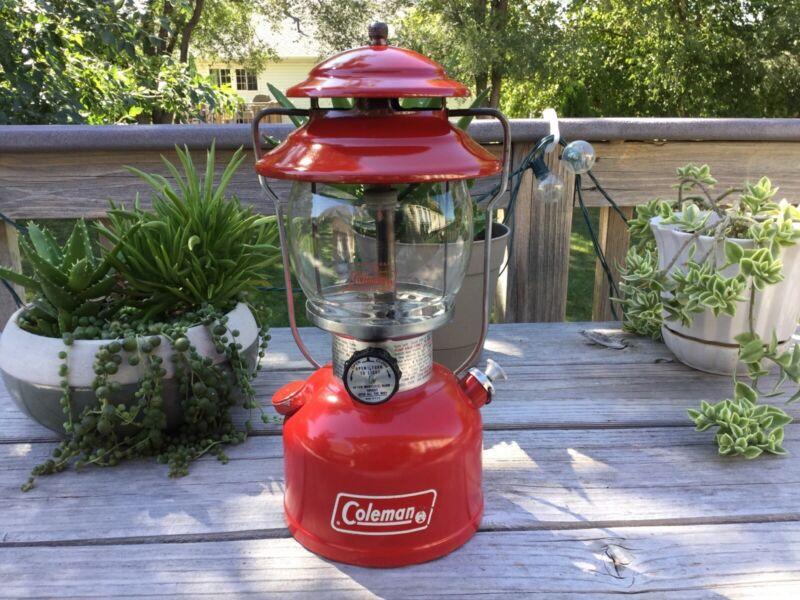 1978 Coleman 200A Single Mantle Lantern - Red - *NICE* 9/78