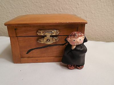 Vampire Brooch And Halloween Decoration With Wood Coffin ~ Doll House Decoration