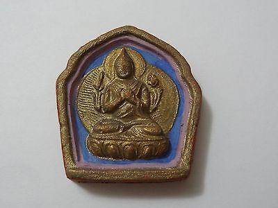 MONGOLIAN TIBETAN BUDDHIST HAND MADE CLAY TSA TSA of Tsong-kapa