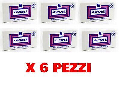 X 6 PEZZI STRUTTURA TRATTAMENTO CAPELLI FIALE OLIO MINERALIZZANTE 10 X 12 ML