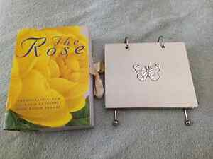 Rose Photograph Album and Metal Flip Album Mindarie Wanneroo Area Preview