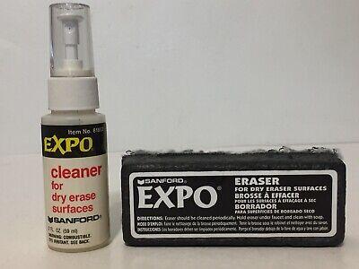 Vintage Sanford Expo Dry Erase Board Eraser And Cleaner Bottle Lot Of 2