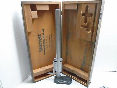 Starrett Flush Reading Vernier Height Gage No.255 With Box