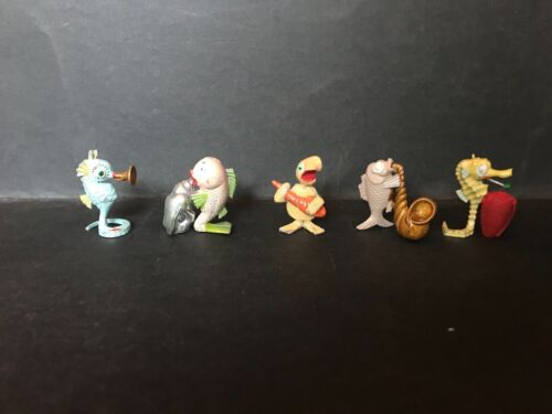 CEREAL TOY R&L DEEP SEA BAND LOT OF 5, ALL HAVE BEEN PAINTED