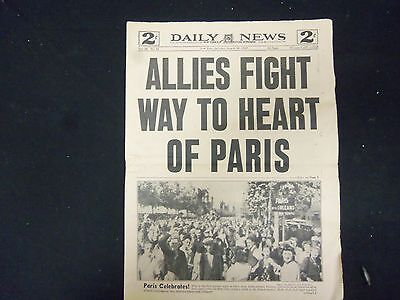 1944 April 26 New York Daily News   Allies Fight Way To Heart Of Paris   Np 2166