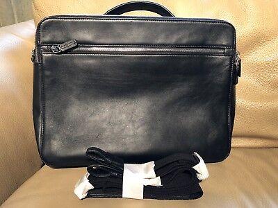 Half Price Offermann 44190410 Black Leather Croccodile Computer Case Laptop Bag