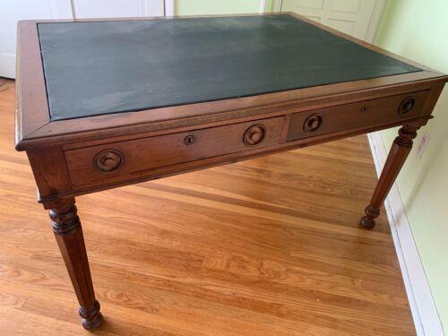English 19th Century William IV Period Mahogany Partners Writing Table