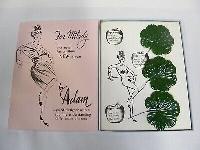Vtg The Leister Game Co. Adam & Eve Fig Leaf Funny Adult Novelty Gag Gift (A10)](Adam And Eve Novelties)