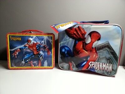 NEW SPIDER MAN / SPIDERMAN LUNCH BOX LOT OF 2