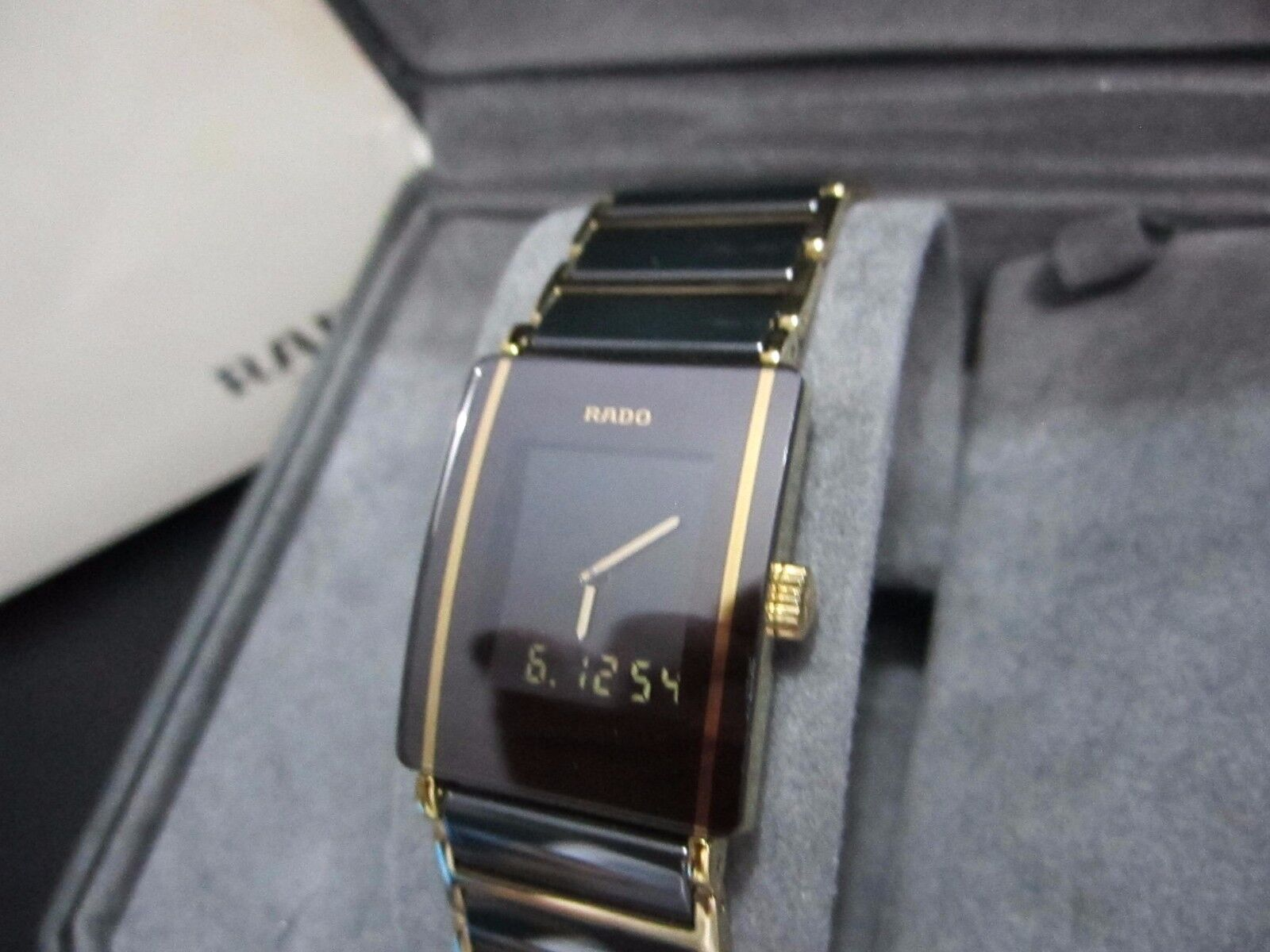 $399.99 - Rado DiaStar Woman High Tech Ceramic Scratchproof Analog & Digital 18K PVD