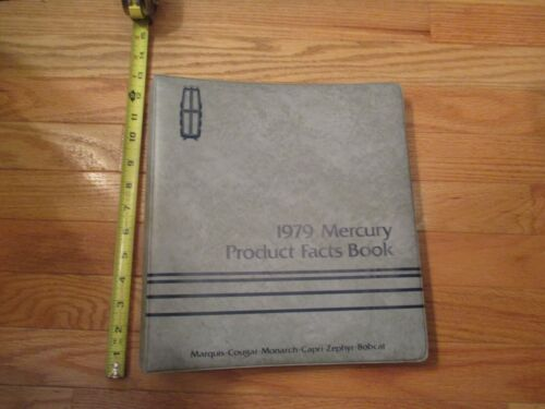 1979 Mercury product fact Car Auto Buyers guide Dealership dealer Sales book #41