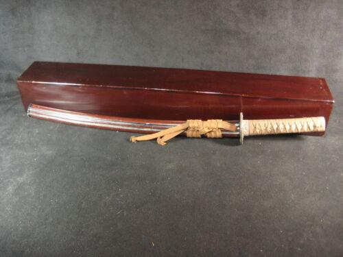 ANTIQUE JAPANESE EDO  ERA (c1800) CRYPTOMERIA WOOD LIDDED SAMURAI SWORD BOX