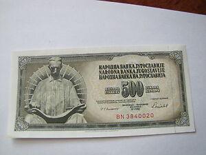 500 dinarów Jugosławia 1988 seria BN 3840020 stan 1- - Kosakowo, Polska - 500 dinarów Jugosławia 1988 seria BN 3840020 stan 1- - Kosakowo, Polska