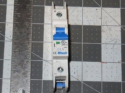 Altech 1c05dl Branch Circuit Breaker C-trip 125 Vdc 0.5 Amps