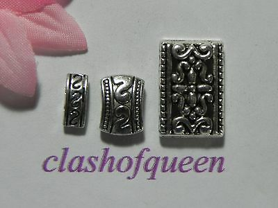 Tibetan Silver 2 or 3  Hole Spacer Bar Beads Jewelry Findings ✰✰USA Seller✰✰  Alloy Spacer Bar Findings