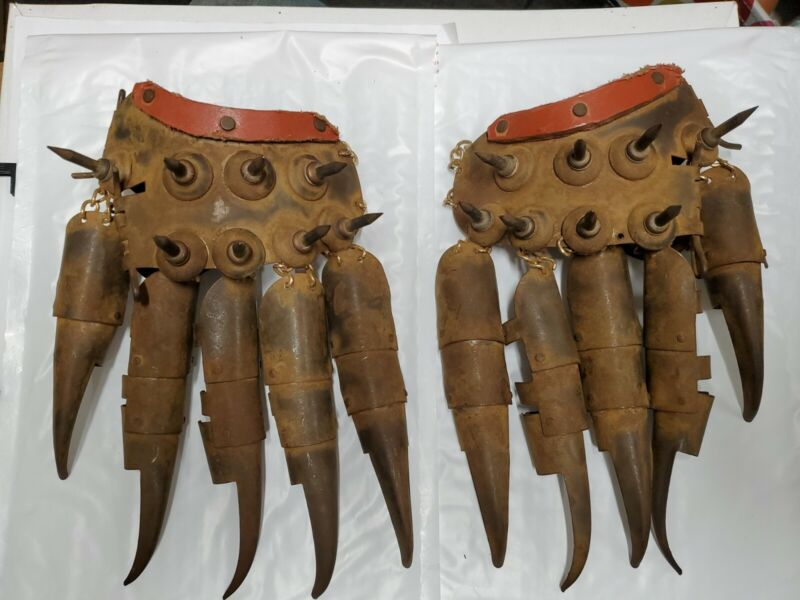 Antique Japanese Spiked Fighting Gloves