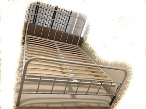 White metal  DOUBLE bed frame in 98% new Chatswood Willoughby Area Preview