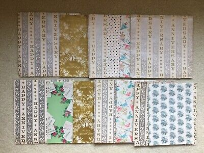 Vintage Wrapping Paper Sheets/Scraps Birthday Anniversary Wedding Gift Wrap Anniversary Wedding Gift Wrap