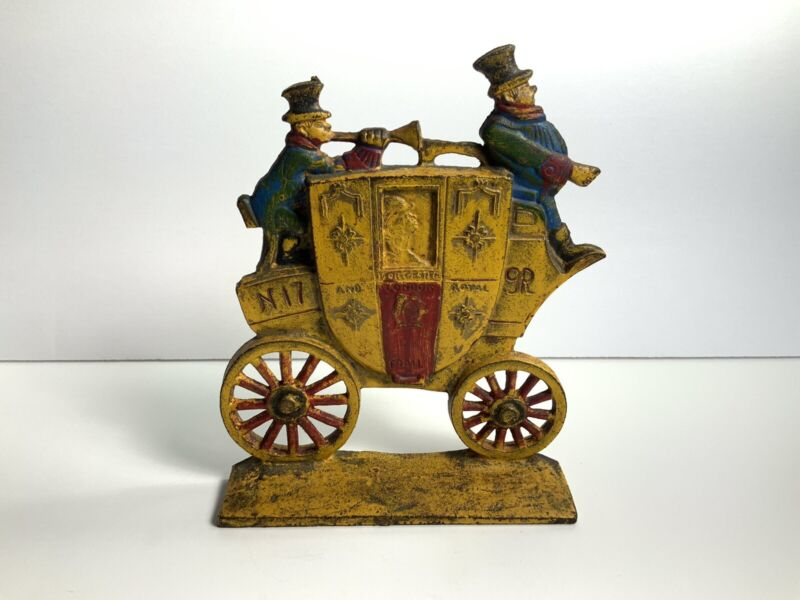 Classic Worchester-London Royal Mail Coach Doorstop Bookend Nuydea Carriage