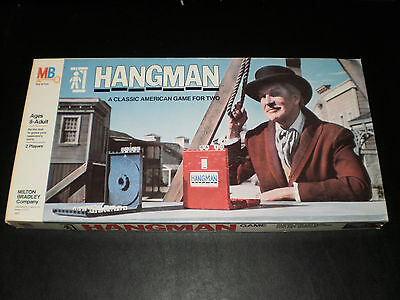 Hangman Milton Bradley 1976 Excellent Condition