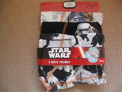 Disney Boxer Shorts (Men's/Teens Star Wars Boxers/Shorts/Trunks Disney Underwear 3 Pack waist 28