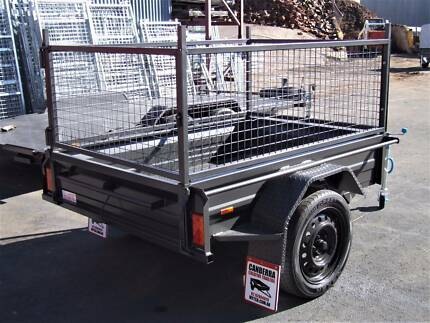 6x4 H/D Trailer with Cage made with quality Australian steel