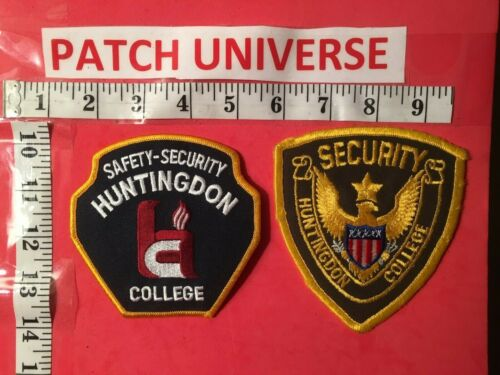 LOT OF TWO HUNTINGDON COLLEGE SECURITY ALABAMA   SHOULDER PATCHES  O070