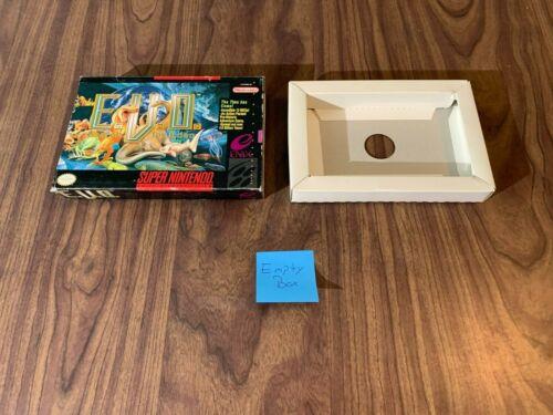 EVO E.V.O. (Super Nintendo, SNES) -- Authentic / Original -- CUT Box Only --