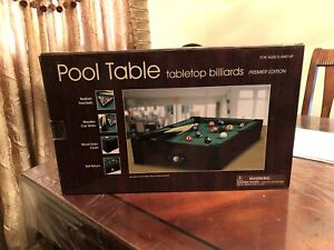 Table top pool table for kids
