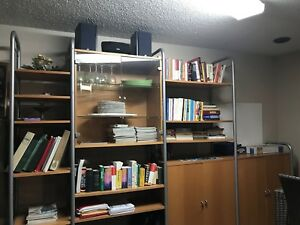 Shelving and storage unit/unité d'étagères