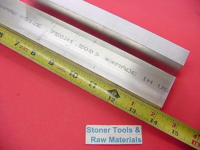 2 Pieces 34 X 1-12 Aluminum 6061 Flat Bar 14 Long Solid Mill Stock .75x1.5