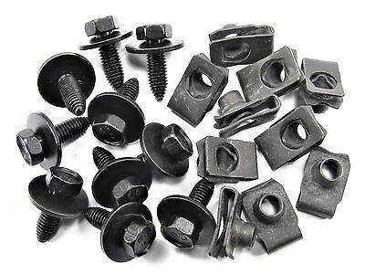 GM Truck Body Bolts & U-nut Clips- M8-1.25mm x 25mm Long- 13mm Hex- 20 pcs- #152