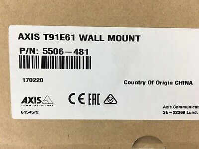 5506-481 T91e61 Wall Mount For Dome Camera Axis Communications White Kit