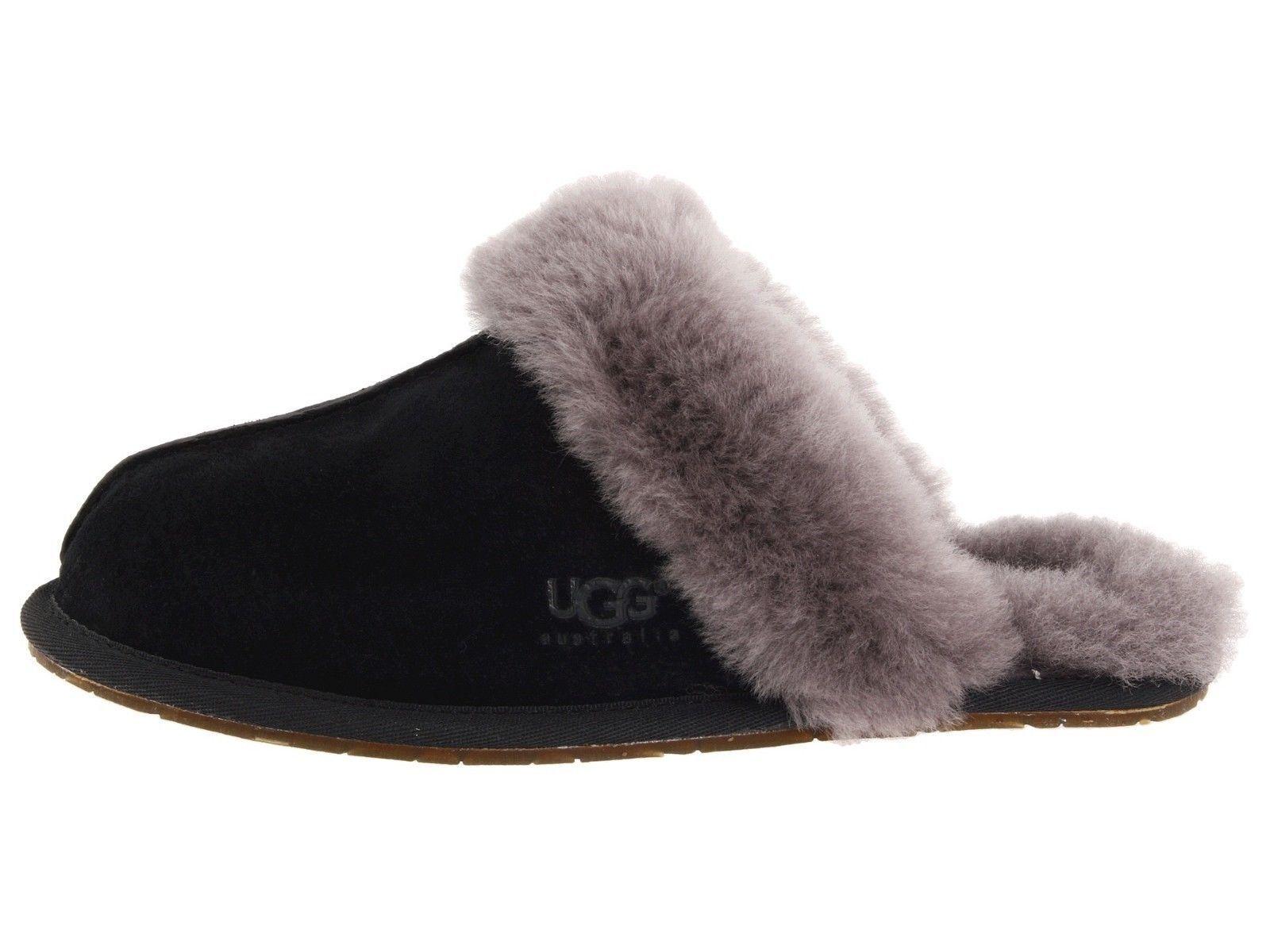 UGG Scuffette II Black Grey Women's Slippers 5661