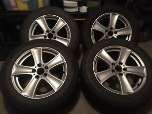 """BMW 18"""" alloy wheels and winter tire package"""