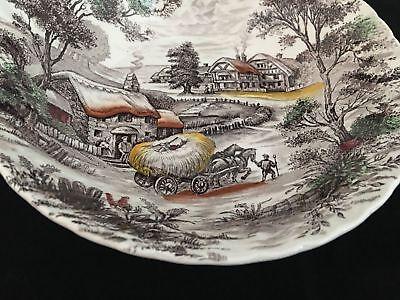 """Vintage Staffordshire England YORKSHIRE 8 7/8"""" Round Vegetable Serving Bowl"""