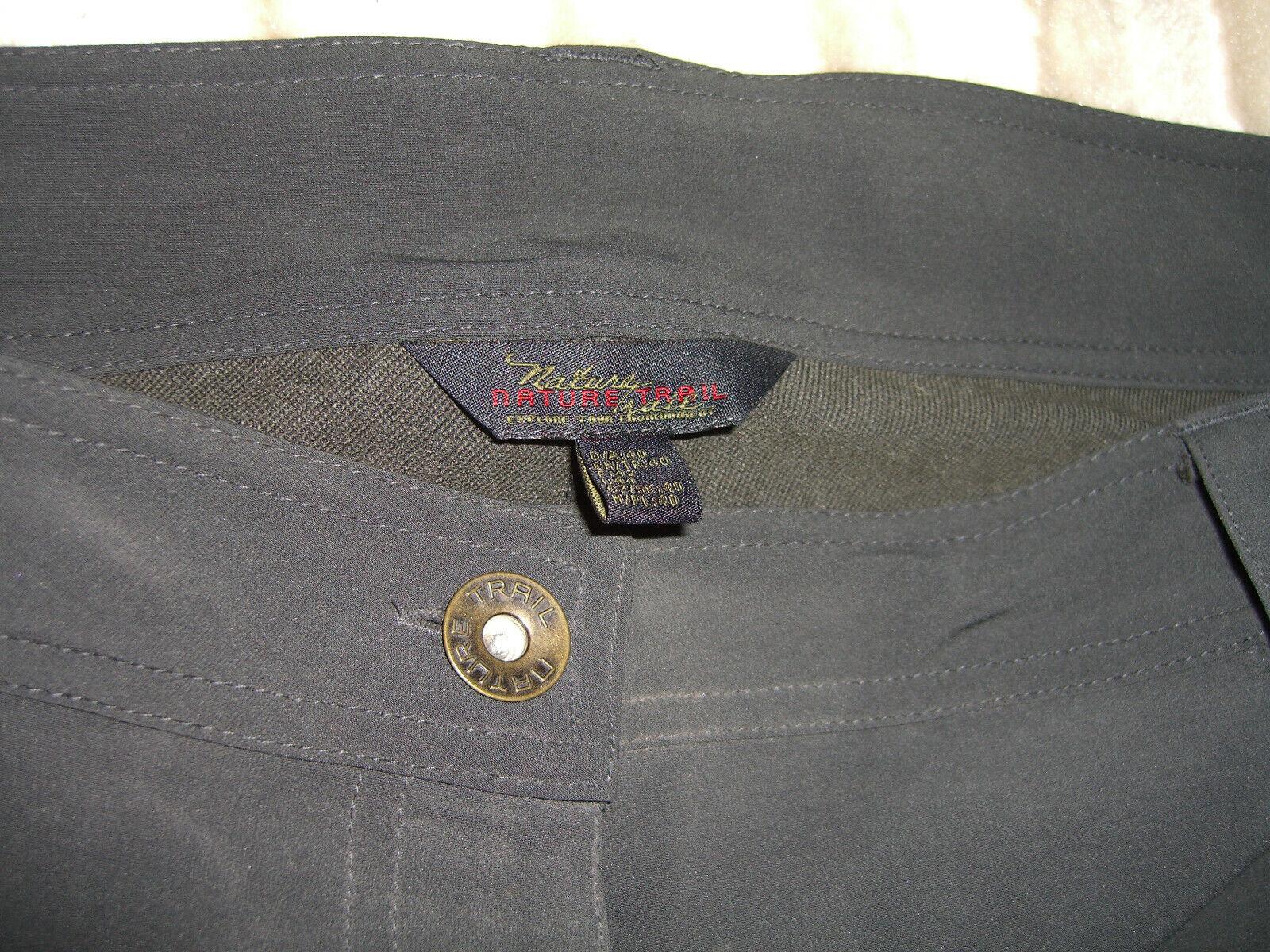 Damen Softshell Hose Trekkinghose schwarz anthrazit Gr. 40