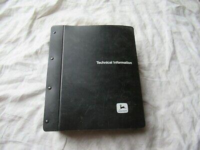 John Deere 6600 7700 Sidehill Combine Technical Manual Service Shop Manual