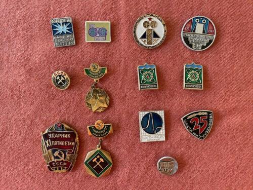 13 Soviet USSR Russia pins