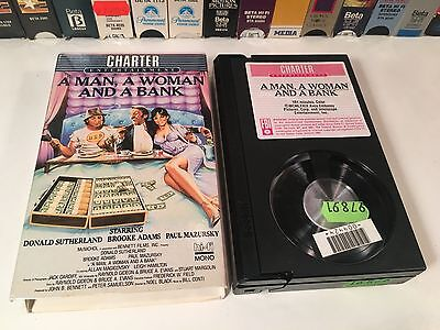 * A Man, A Woman And A Bank Betamax NOT VHS 1979 Comedy Beta Donald Sutherland